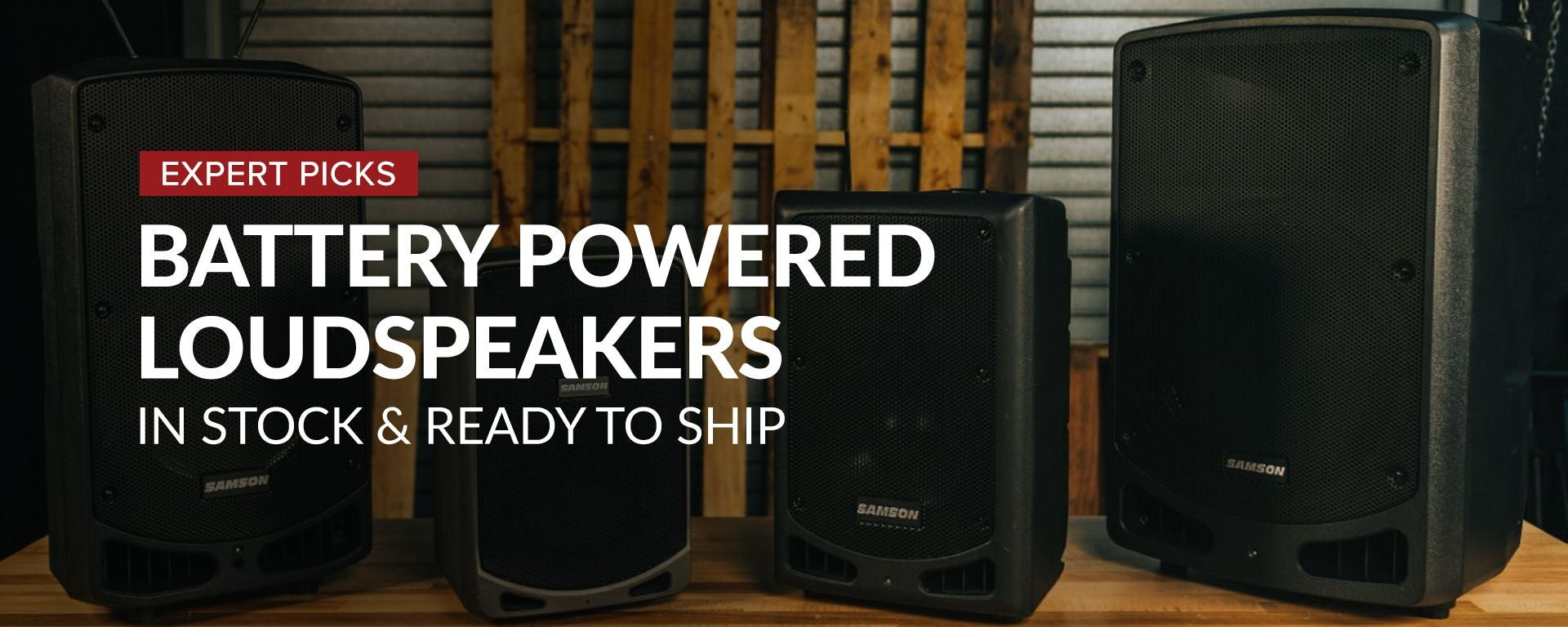 Shop Battery Powered Speakers at Sam Ash
