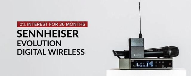 Shop Sennheiser Evolution Digital Wireless with 36 Months Financing at Sam Ash