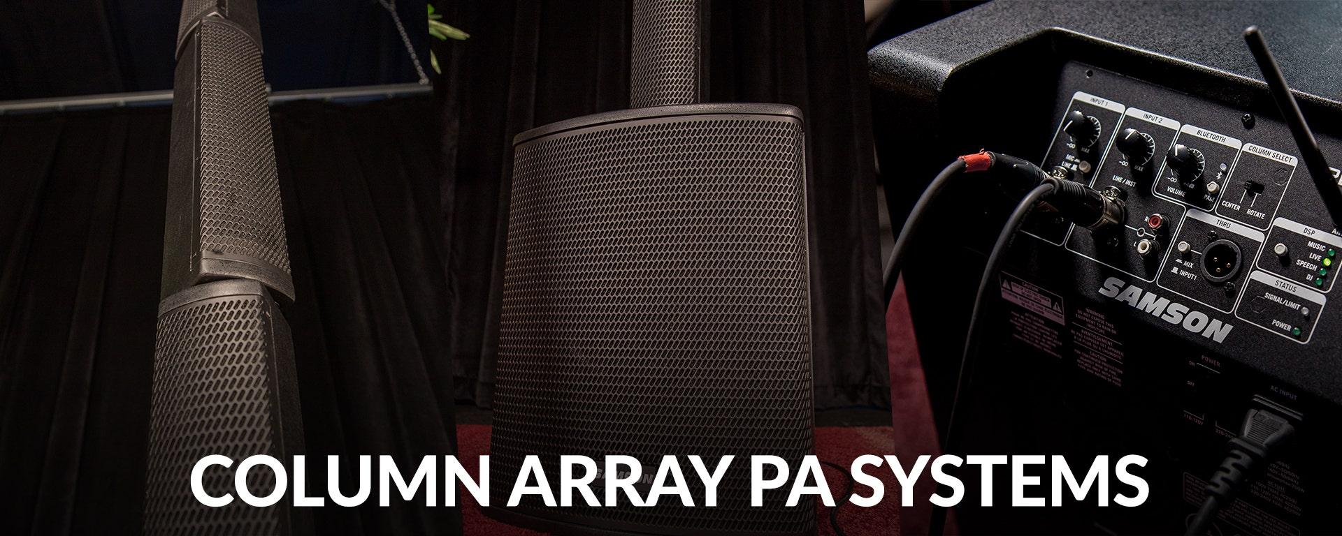 Column Array PA Systems at SamAsh.com