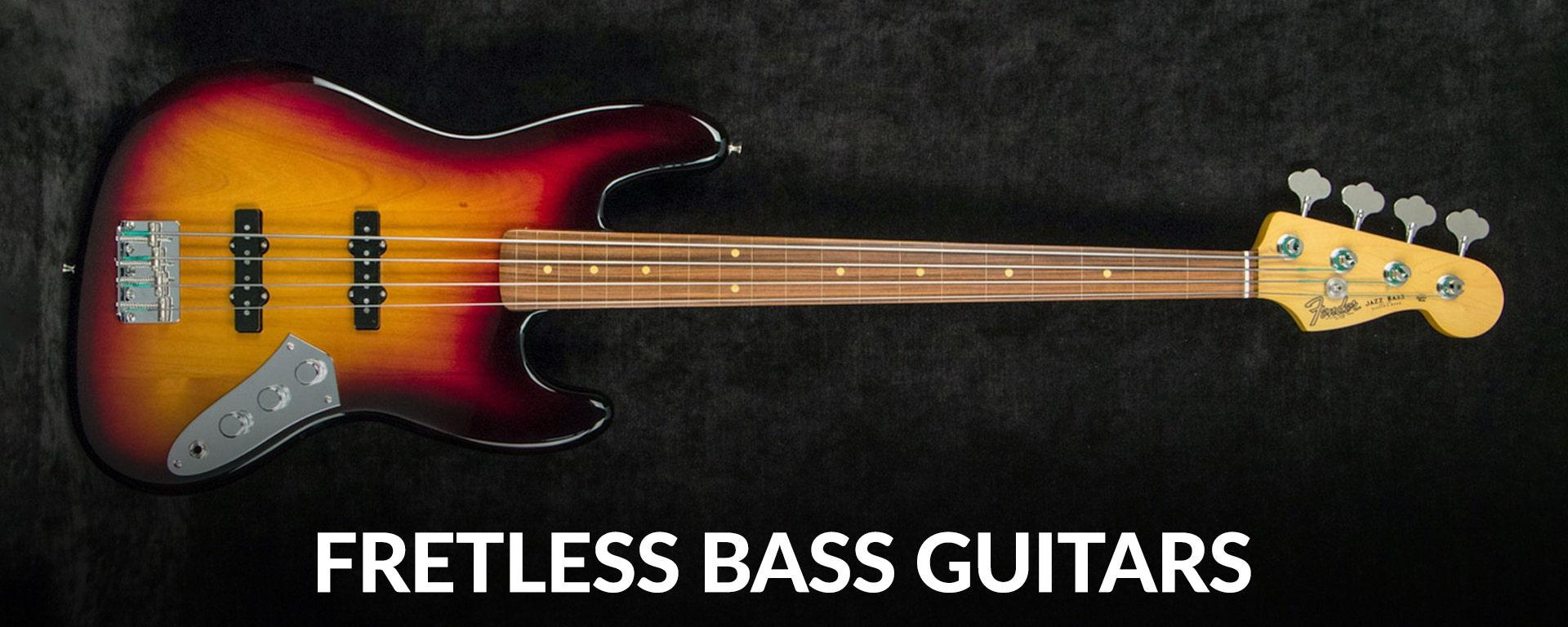Shop fretless electric bass guitars at Sam Ash