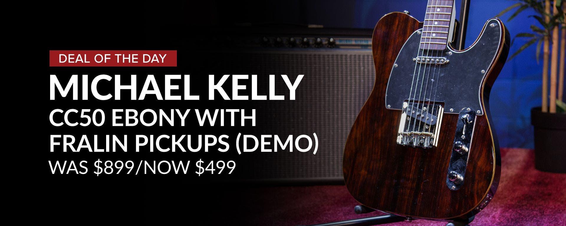 Michael Kelly CC50 Fralin Ebony Guitar
