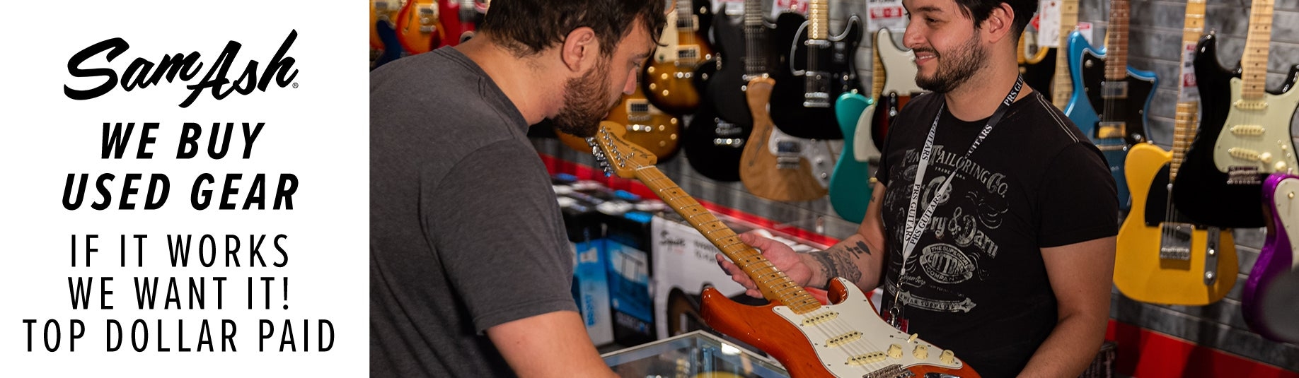 We want to buy your used gear! If it works, we want it - top dollar paid.