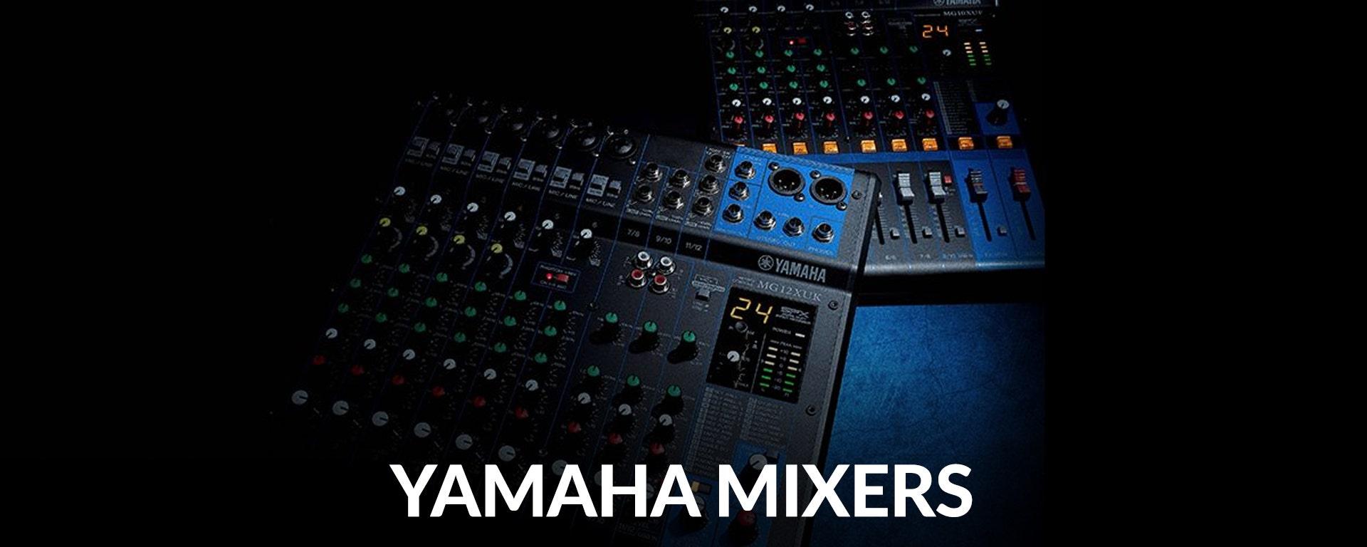 Shop Yamaha Mixers at SamAsh.com