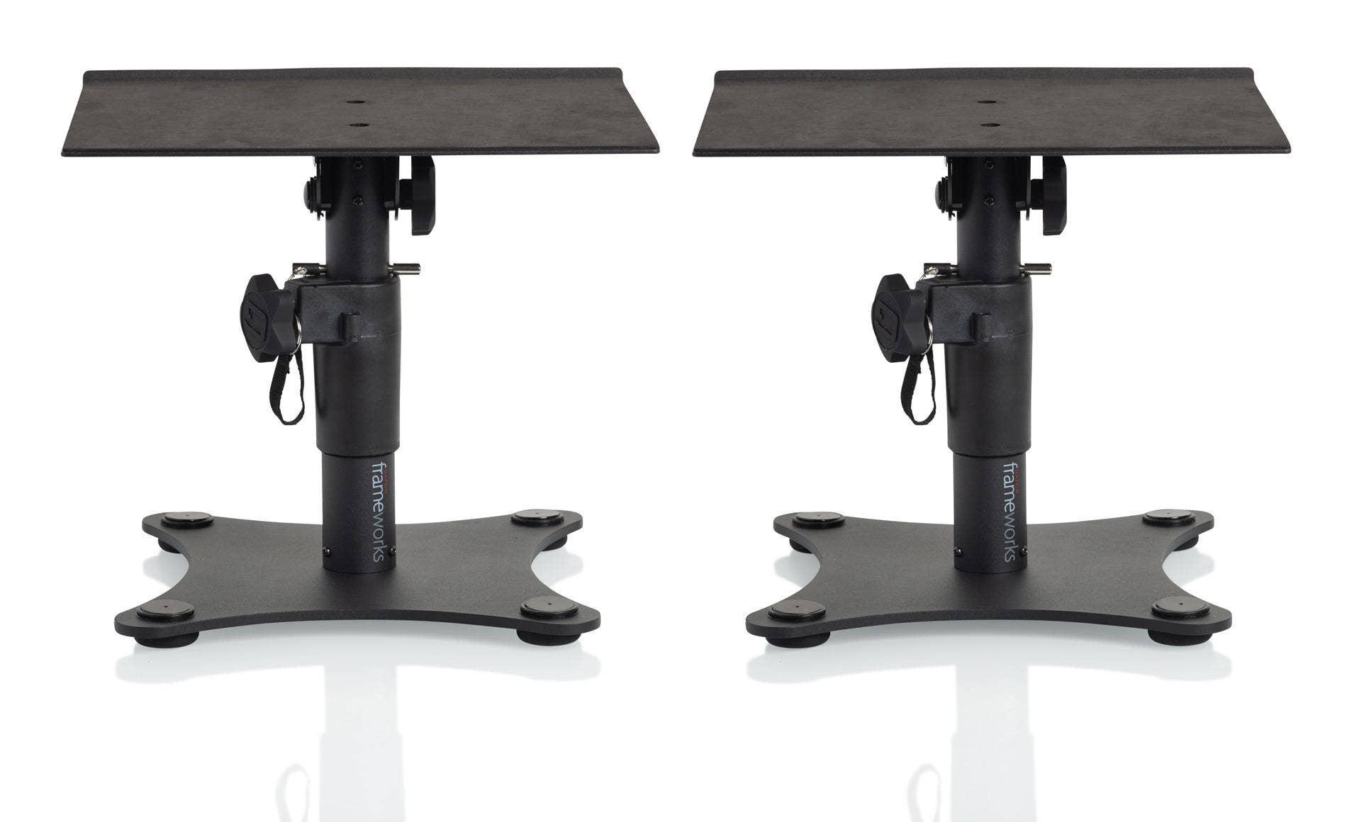 Gator Frameworks Adjustable Height Desktop Studio Monitor Stand