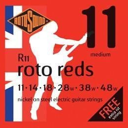 Rotosound R11 Roto Reds Medium Electric Guitar Strings (11-48) for sale