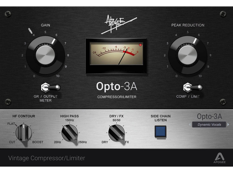 Apogee Opto-3A Vintage Compressor/Limiter Plug-In (Digital Download)