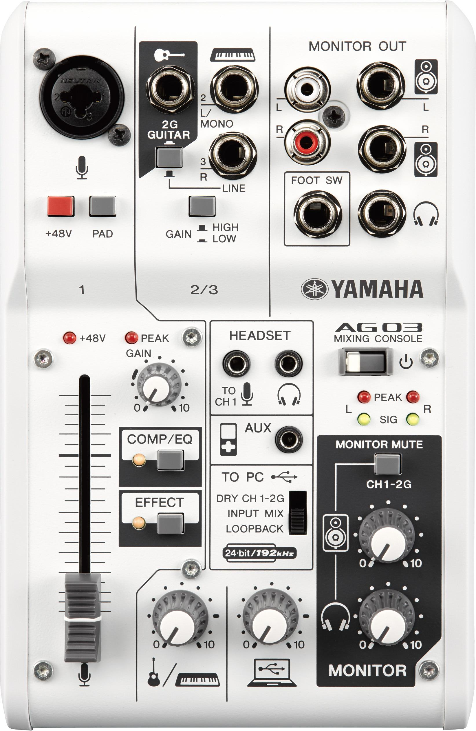Yamaha AG03 Mixer / USB Audio Interface (3-Channel)